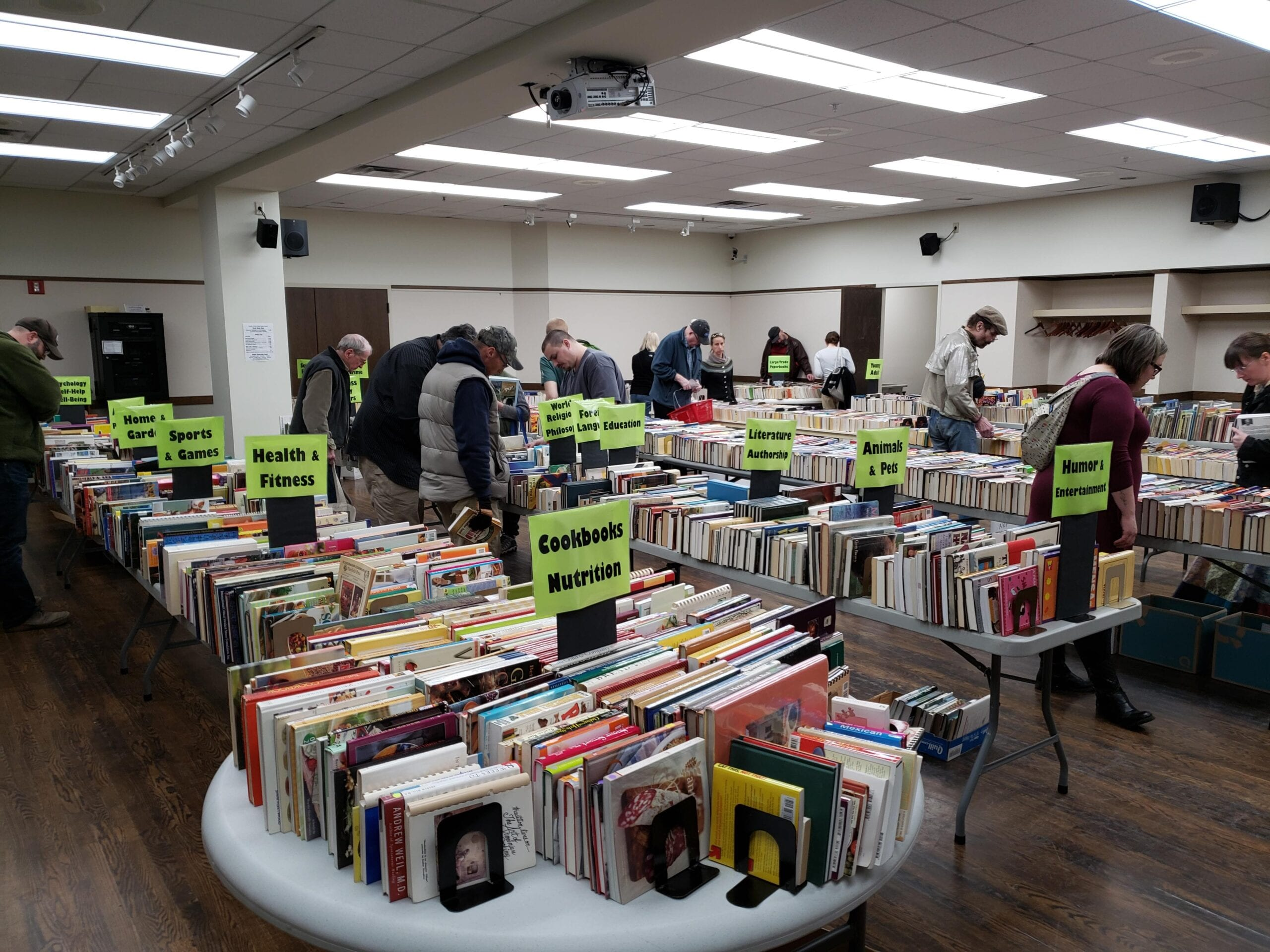 Join Shoppers at the September PWPL Used Book Sale