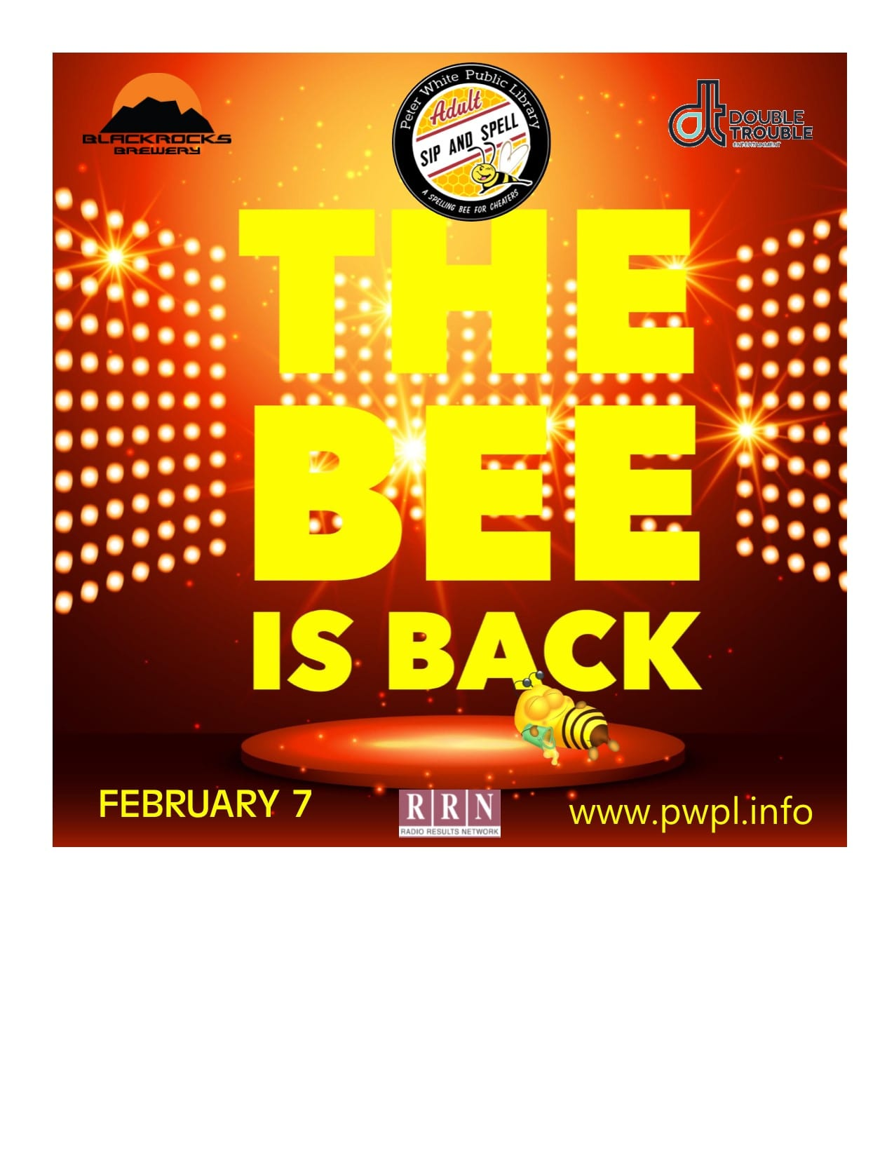 PWPL Sip and Spell Fundraiser February 7, 2020