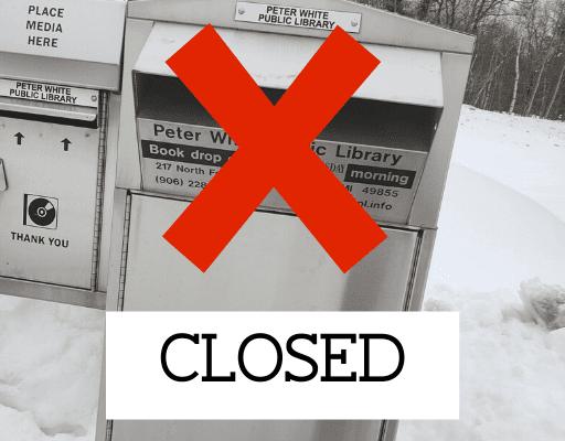 Library Book Drops Closed Until April 13, 2020