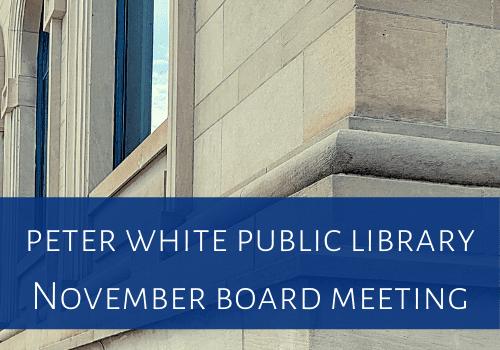 November PWPL Board Meeting