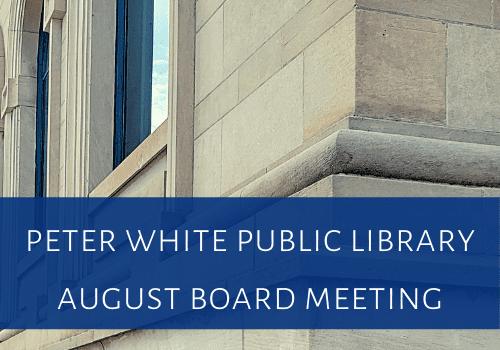 PWPL August Board Meeting